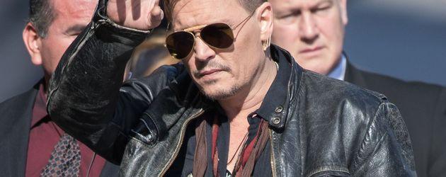 "Johnny Depp auf dem Weg zu ""Jimmy Kimmel Live!"""