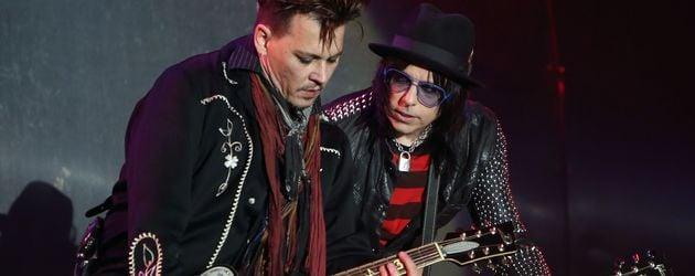 """Johnny Depp und Joe Perry bei """"Rock in Rio Lisboa"""""""