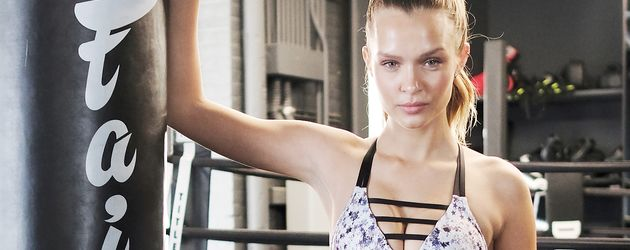"Josphine Skriver beim ""Train Like an Angel""-Werbeshooting für ""Victoria's Secret"""