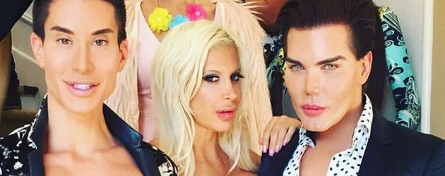 "Justin Jedlica, Angelique ""Frenchy"" Morgan und Rodrigo Alves"
