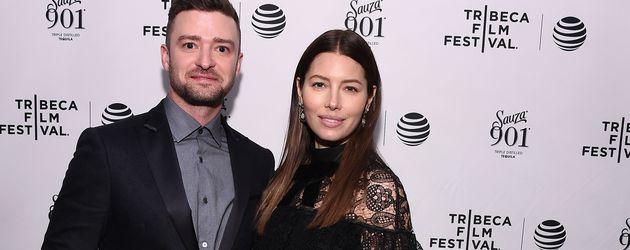 Justin Timberlake und Jessica Biel beim Tribeca Film Festival in New York
