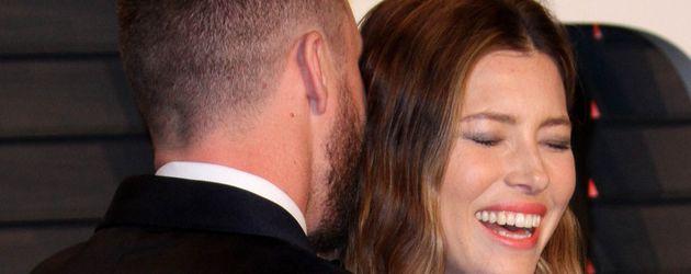 Justin Timberlake und Jessica Biel beim Turteln