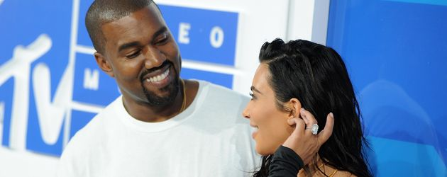 "Kanye West und Kim Kardashian bei den ""2016 MTV Video Music Awards"""