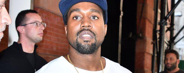 Kanye West vor seinem New Yorker Apartment