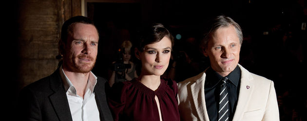 Michael Fassbender, Keira Knightley und Viggo Mortensen