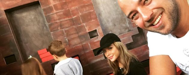 Kim Gloss mit ihrem Freund Alexander und ihrer Tochter Amelia