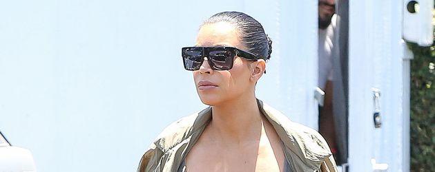 Kim Kardashian während ihrer 2. Schwangerschaft