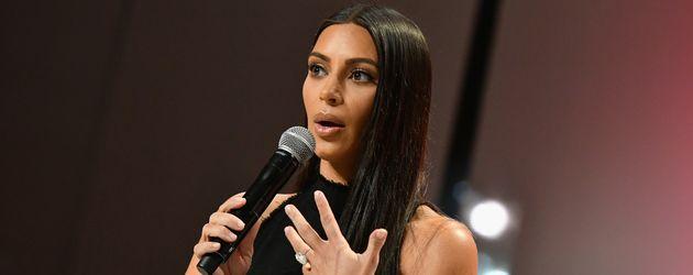 Kim Kardashian im September 2016 bei einer Konferenzin New York