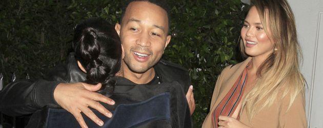 Kim Kardashian, Chrissy Teigen und John Legend