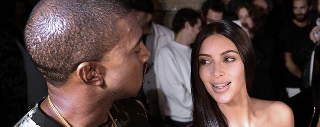 Kim Kardashian und Kanye West 2016 in Paris