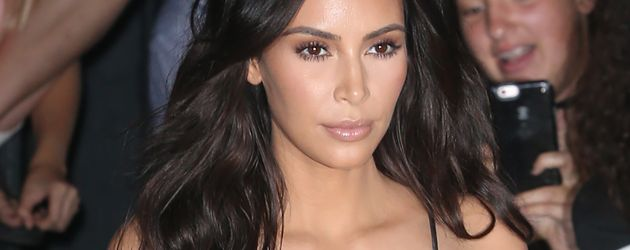 Kim Kardashian vor dem Kanye West-Konzert in New York