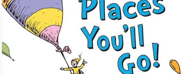 "Dr. Seuss Kinderbuch-Cover von ""Oh, the Places You 'll Go!!"""