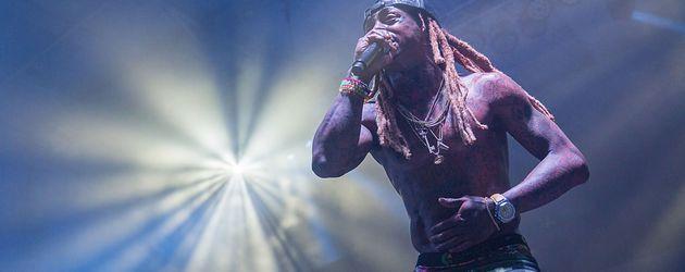 Lil Wayne bei einem Auftritt in Housten, Texas