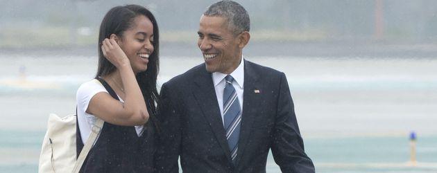 Malia und ihr Papa Barack Obama 2016