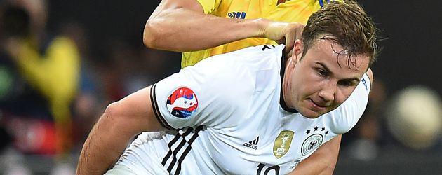 Mario Götze beim ersten EM-Spiel Deutschland gegen Ukraine