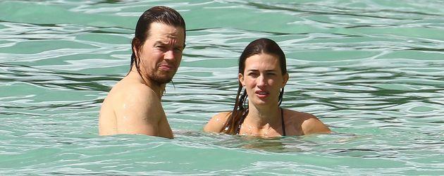 Mark Wahlberg und seine Ehefrau Rhea Durham auf Barbados
