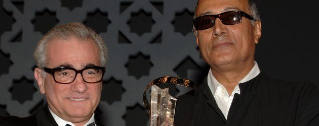 Martin Scorsese und Abbas Kiarostami beim Marrakesh International Film Festival 2005