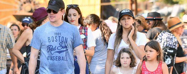 Matt Damon mit seiner Frau Luciana Barroso und den Töchtern Stella und Gia