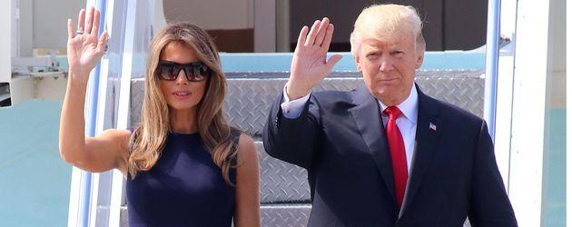 Melania Trump und Donald Trump in Hamburg