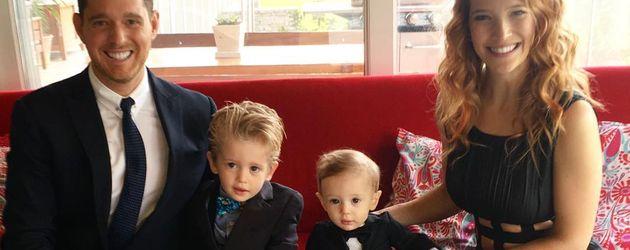 Michael Bublé, die Söhne Noah und Elias und Frau Luisana Lopilato im Oktober 2016