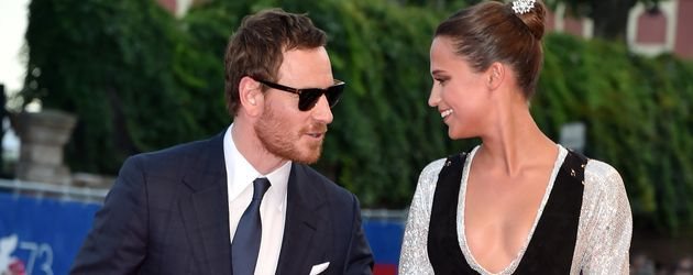 "Michael Fassbender und Alicia Vikander auf der ""The Light Between Oceans""-Premiere in Venedig 2016"