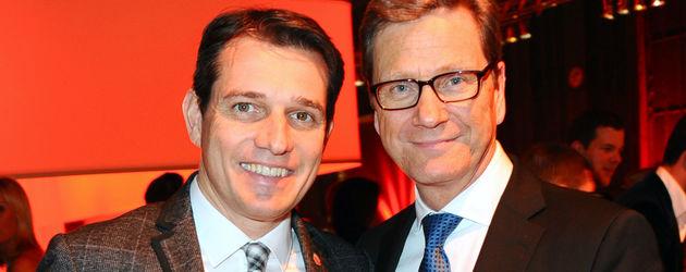 Michael Mronz und Guido Westerwelle auf einem Event