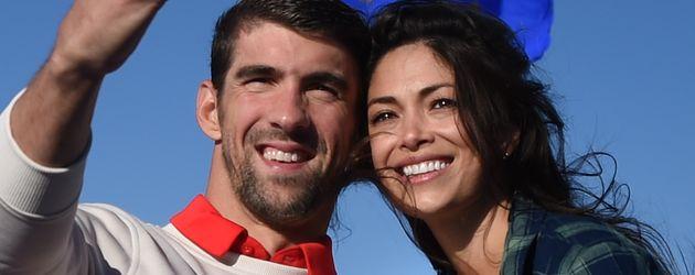 Michael Phelps, Nicole Johnson und Söhnchen Boomer