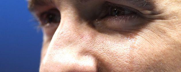 Michael Phelps in Tränen bei Olympia-Siegerehrung