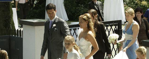 Michael und Simone Ballack bei ihrer Hochzeit am Starnberger See 2008