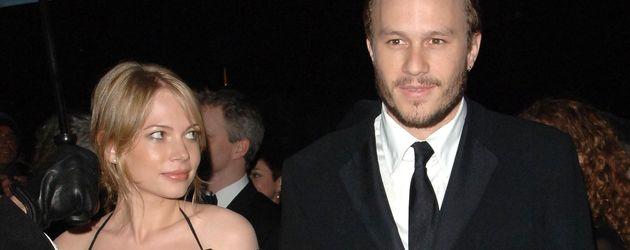 Schauspieler Michelle Williams und Heath Ledger 2006 in London