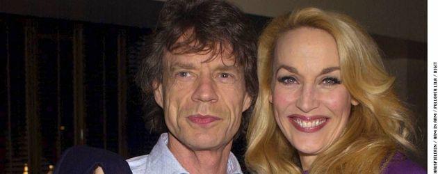 Mick Jagger und seine Ex-Frau Jerry Hall