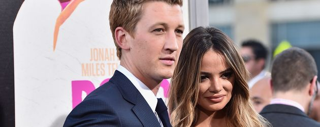 """Miles Teller und seine Freundin Keleigh Sperry bei der Premiere von """"War Dogs"""""""