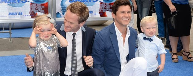 Neil Patrick Harris mit Familie in Kalifornien