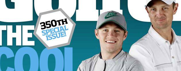 "Niall Horan (l.) und Golfer Justin Rose auf dem ""Today's Golfer""-Cover"
