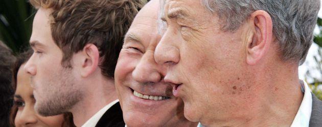 Patrick Stewart und Ian McKellen beim Cannes Film Festival 2006