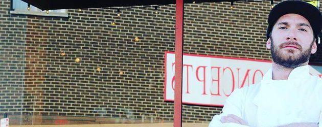 """Paulie Giganti vor seinem Restaurant """"Birra"""""""