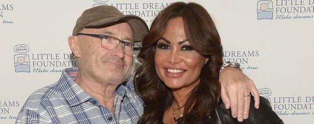 Phil Collins und Orianne Cevey bei einem Charity-Event
