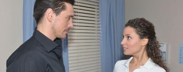 Philipp Christopher und Nadine Menz in einer GZSZ-Szene als David und Ayla