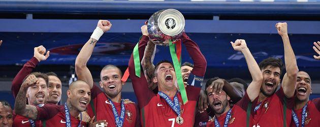 Die Portugiesische Nationalmannschaft beim EM-Sieg 2016