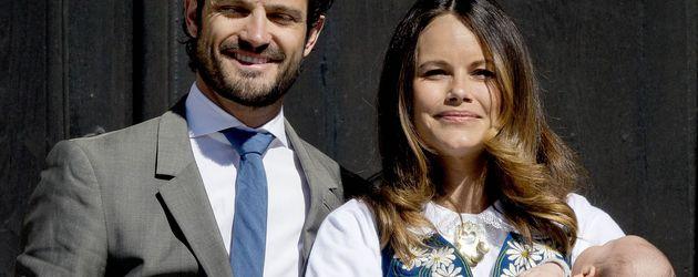 Prinz Carl Philip, Prinzessin Sofia und Prinz Alexander am schwedischen Nationalfeiertag