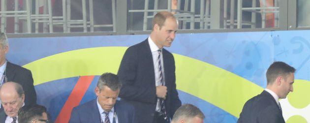 Prinz William im Stadion von Saint Etienne