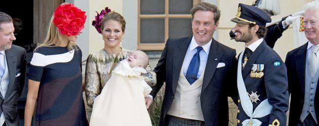 Prinz Carl Philip von Schweden, Madeleine von Schweden, Prinz Nicolas von Schweden und Chris O'Neill