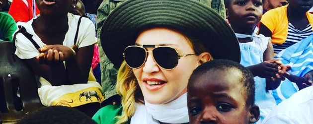 Queen of Pop Madonna besucht ein Waisenhaus in Malawi