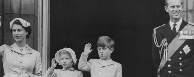 Queen Elizabeth II., Prinz Philip, Prinz William und Prinzessin Anne