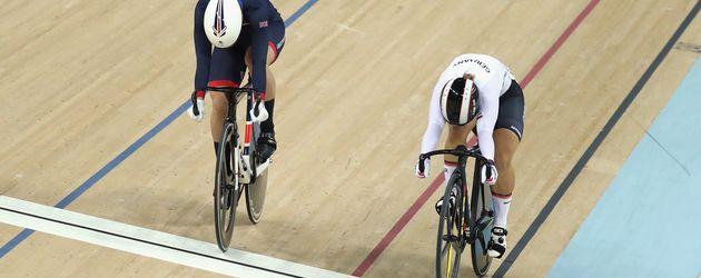Olympia-Siegerin Kristina Vogel (r.) mit Rebecca James