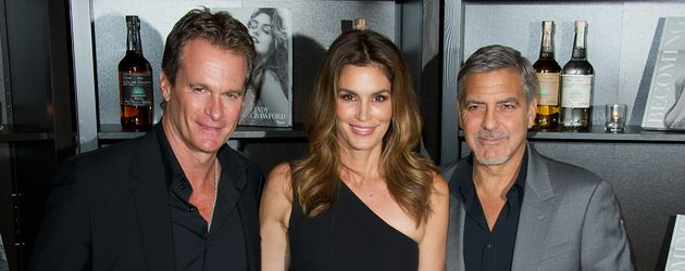 """Rande Gerber, Cindy Crawford und George Clooney bei """"Casamigos Tequila"""" Launchparty"""