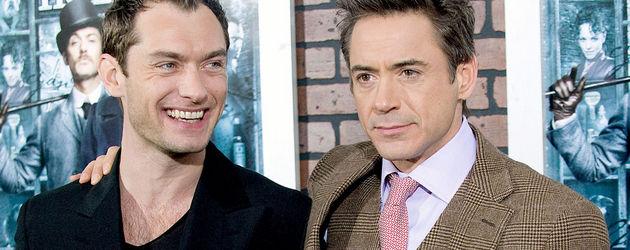 Robert Downey Junior und Jude Law