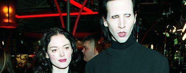 Rose McGowan und Schock-Rocker Marilyn Manson im Jahr 1999