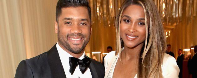 Russell Wilson und seine schwangere Ehefrau Ciara