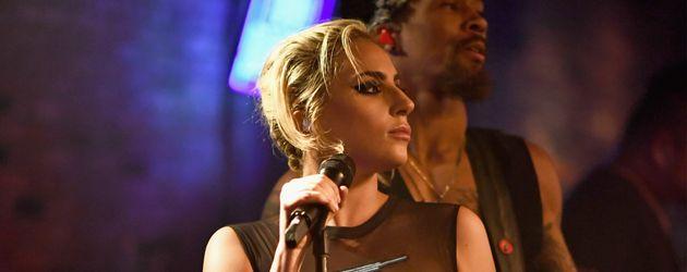 Lady Gaga während eines Konzertes in New York
